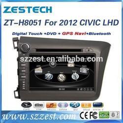 For Honda Civic Car gps navigation 2012 left hand drive ZT-H8051