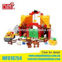 61 pcs Building block happy farm set duplo set block toys