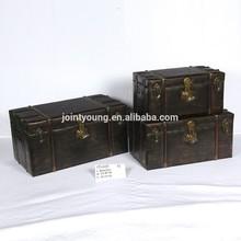faux leather vintage storage box