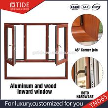 Thermal break windows series, aluminum wood window By Trade Assurance member