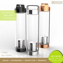 Design New Innovations Ti-Borosilicate Glass Water Bottle Filter