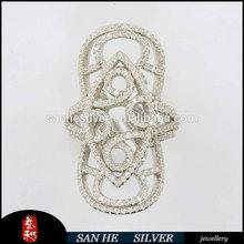 2014 fashion 925 silver inlaid stone ring wholesale