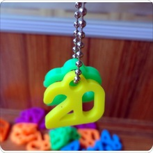 Fashion charms silicone pendants/key chain