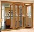 material de aluminio de madera plegable mirada puertas la puerta