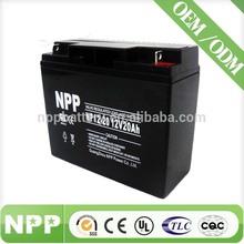 12V 20AH VRLA Storage Recharge Sealed Lead Acid Battery 12V 20AH