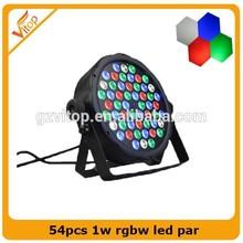 Hot Sale 54*1w rgbw Par Led Lighting Equipment for Home Dj Disco Party Club