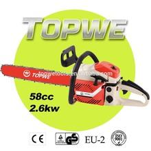 TOPWE 45cc garden tool gasoline tree cutter machine