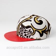 plain snapback hats/cap wholesale leather