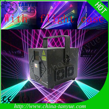 New mini 2W RGB full color animation led light high power laser with fly case