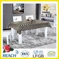 Negro de encaje superposiciones de mesa / PVC mantel de encaje / negro y blanco superposiciones de mesa
