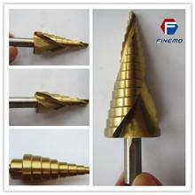3-Piece Titanium Step Drill Bits Set M2 Steel - 28 Sizes, SAE Tools For Cutting Hss Step Dril bit