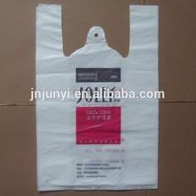 Customer's requirements plastic t-shirt bag shopping