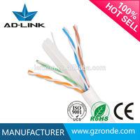 PVC Jacket Networking 100% Fluke Test Indoor Bare Copper UTP Cat6 Lan Cable