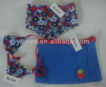 New arrival three piece fashion girl sex swimming wear