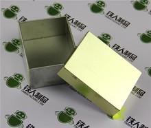 Empty tinplate box candy can chocolate case tea tin factory price