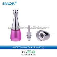 2014 e cigarette 3.5ml round tip bottom coil tank with beautiful design best price tunbler tank