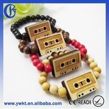 elastic wood bracelet handmade wood bracelet tapes model mens wood bracelet