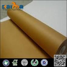 Alibaba China moisture proof 60gsm brown kraft paper roll/Brown Kraft Paper
