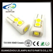 led auto bulb ceramic light t10 5smd 5050 interior lighting