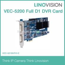 16 Channel software DVR card H.264 video compression