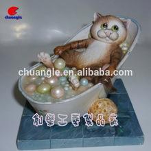 Resin Cat Ornaments, Resin Cat Figurine, Custom Animal Statue