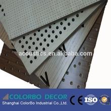 professional sound insulation wood veneer MDF acoustic board