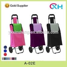 2014 new foldable shopping trolley bag on wheels folding trolley cart