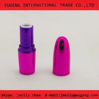 shiny bullet shape plastic empty lipstick tube