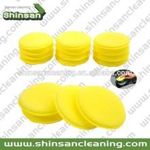Yellow wax and polish applicator pad,wax applicator