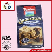 Laminated printed packaging quad seal food bag/pouch OEM manufacturer
