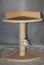 Multi-level leopard skin cat tree cat products
