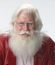 hot selling yak hair /human hair professional Santa Wig and Beard Set