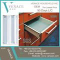 extensão total de material de aço montado na lateral corrediça da gaveta de fechamento macio