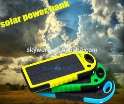 2014 Waterproof charger solar 50000mAh Portable USB Solar Energy Panel Power Bank / inverter charger solar panel