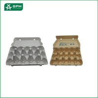 Eco-friendly paper pulp hot pressing egg package tray