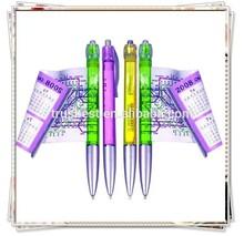 TB-0201 2014 hot selling company advertising banner pen , transparent plastic AD banner ball pen