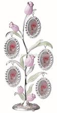 Rose silver metal tree photo frame