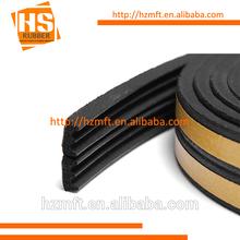 Black EPDM v shape Adhesive backed seals