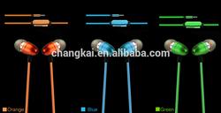 Flashing Light 3.5mm Connectors Novelty EL Headphone