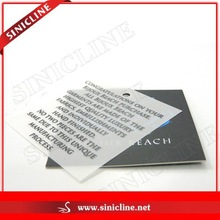 Promoted Your Products Paper and PVC Tags for Clothing