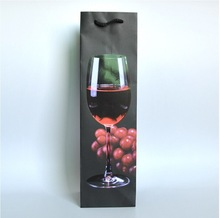 Wine bottle paper bag
