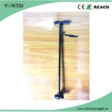 antique titanium four legs telescope walking stick rubber tips