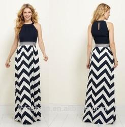 2015 Summer Sexy New Fashion Women Chiffon Simple Long Dress