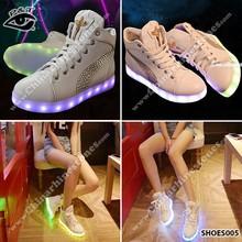 Luminous USB charging shoes Rhinestone Decoration LED light Sneakers