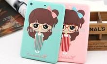 High Quality Soft Silicone Fashion Cartoon Girl Little Case for Ipad Mini1/2