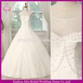 Sw655 sheer top lace overlay saia execuções a-line vestidos de casamento 2014
