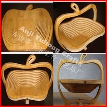 apple shape bamboo fruits basket