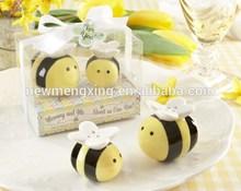 unique yellow bee salt pepper shakers wedding return gift