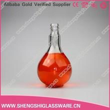 Yüksek miktarda net boş güzel yuvarlak 250ml cam şarap şişesi, ucuz şarap şişeleri