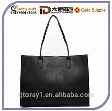 2015 Black Fashion Women Leather Handbag